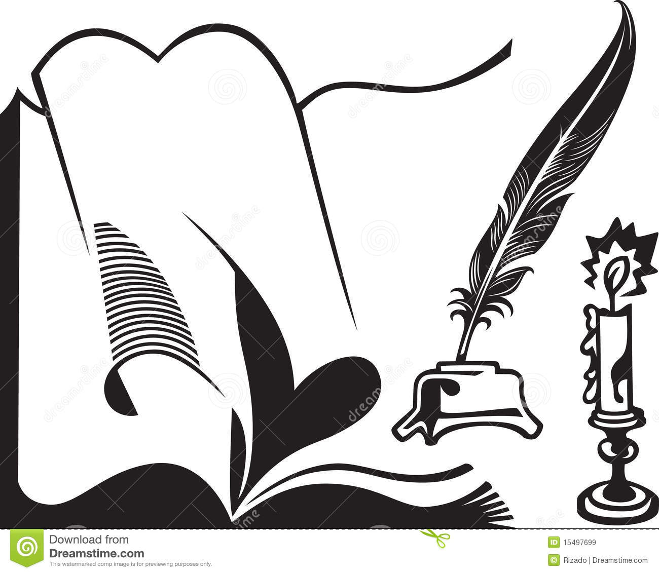 opened book quill and candle royalty stock images image opened book quill and candle