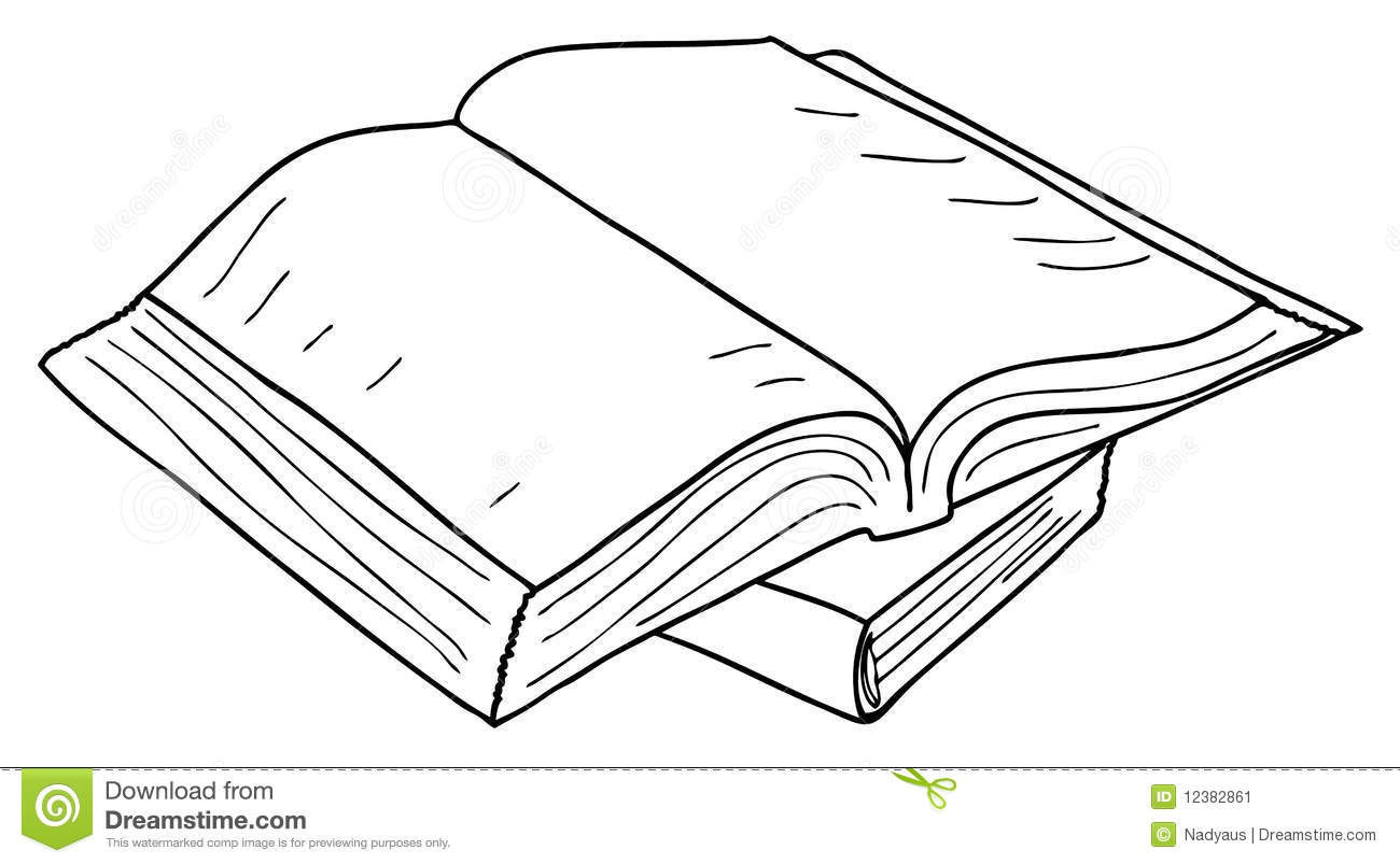 Notebook And Pen Sketch Stock Vector Art More Images Of: Opened Book Sketch, Vector Stock Image