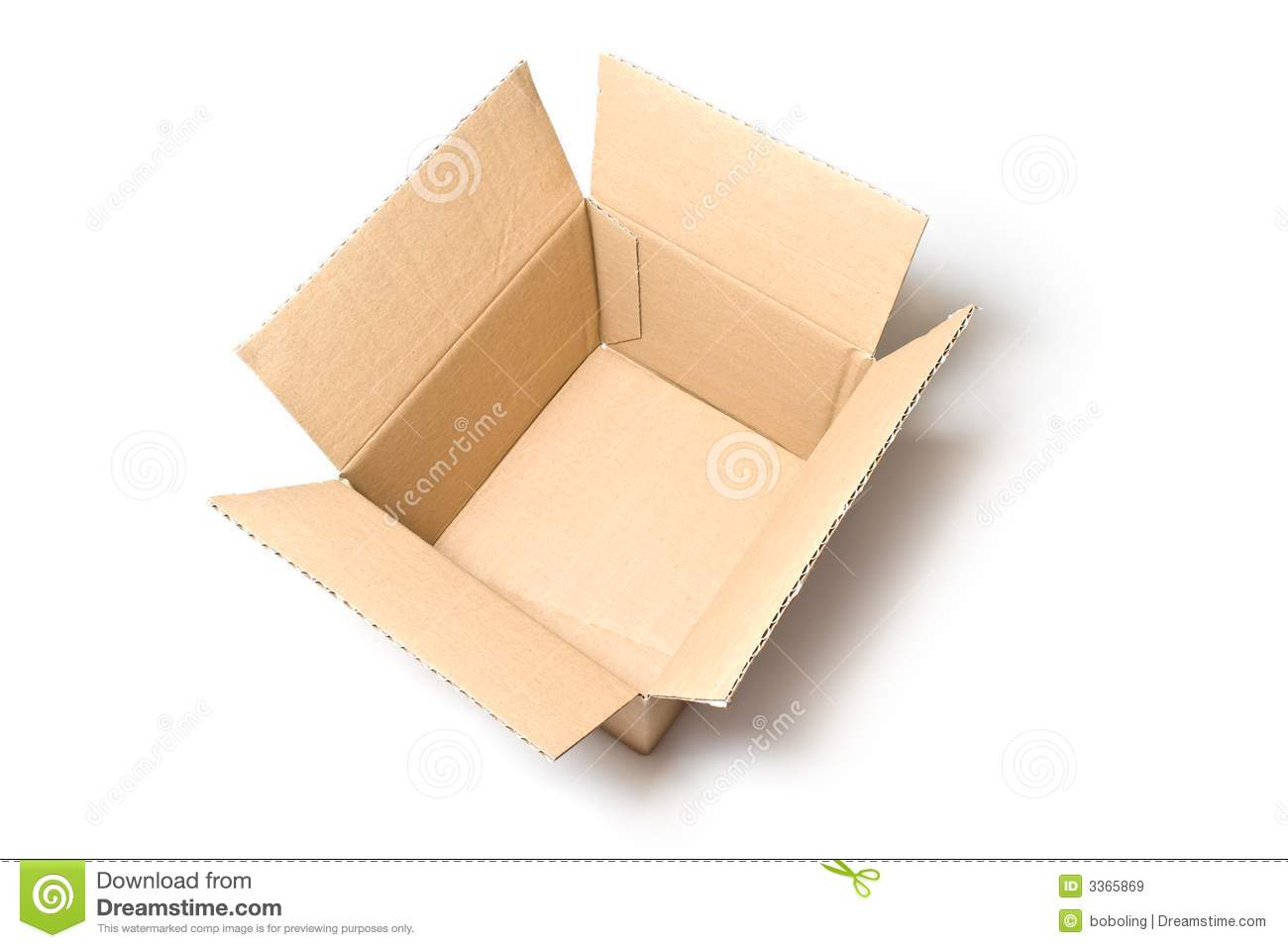 An opened box
