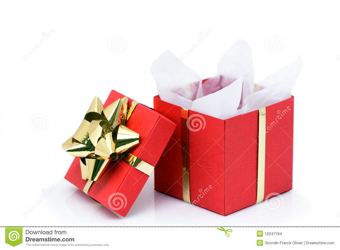 Opened Christmas Present Stock Images - Image: 12247194