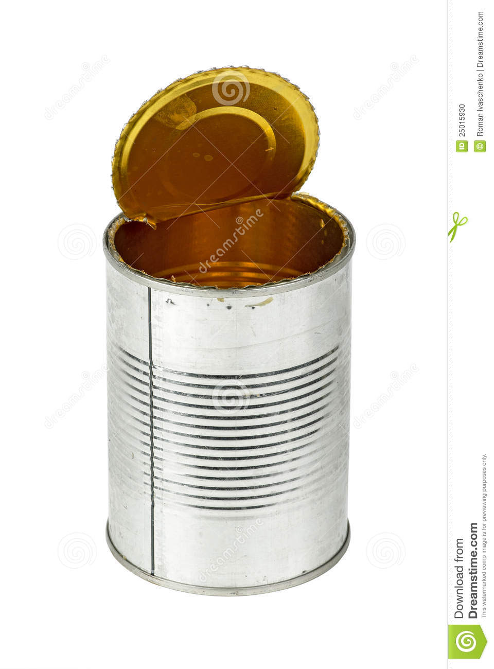 Empty Tin Can Stock Photography: Opened Empty Tin Can Stock Photo. Image Of Junk, Tinned
