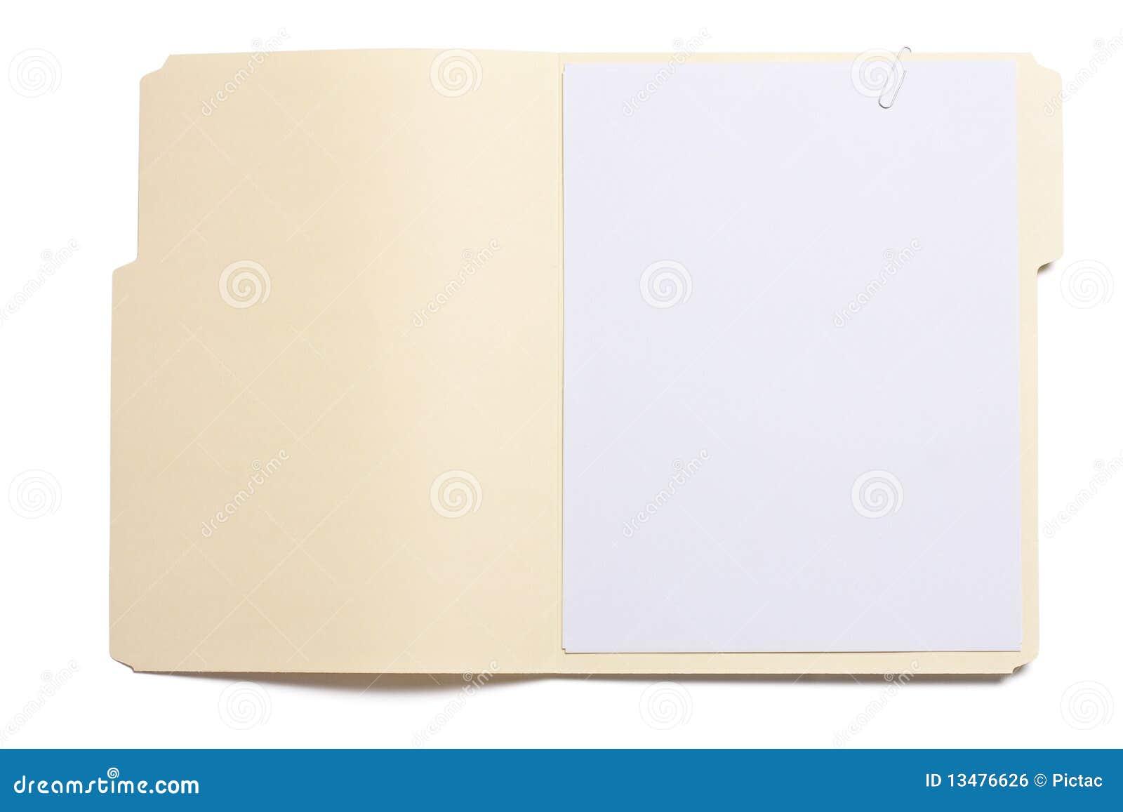 Opened File Folder Royalty Free Stock Image - Image: 13476626