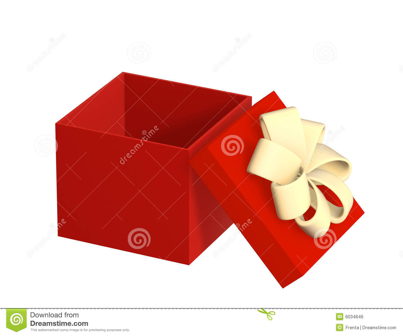 Opened Gift 3d Box Of Red Color Royalty Free Stock Image - Image ...