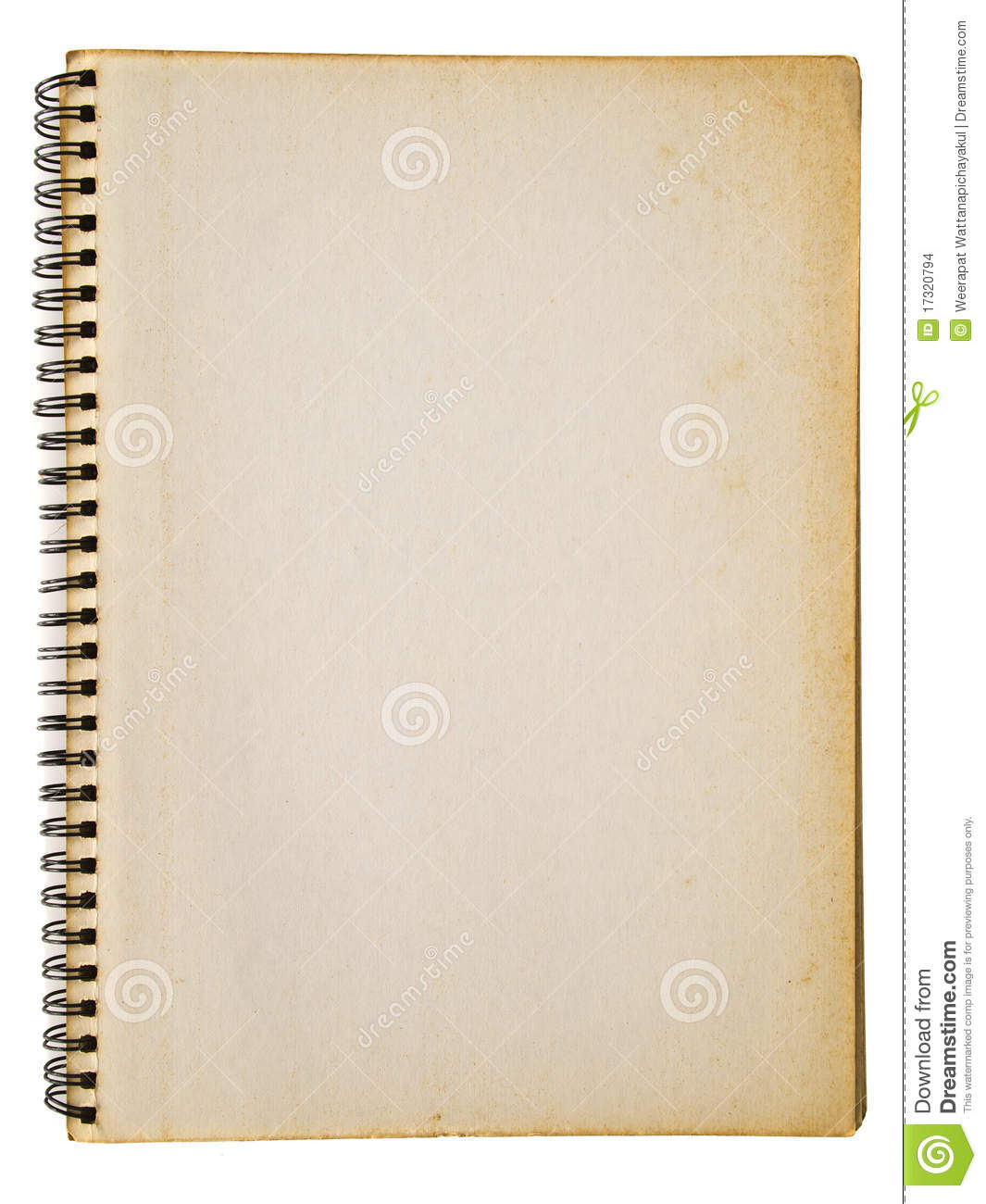 Notebook Cover Background : Opened old notebook stock photo image of business copy
