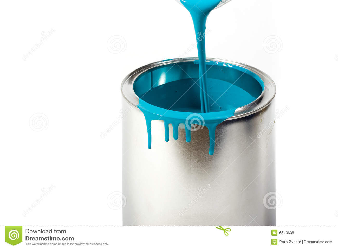 Opened Paint Bucket With Dripping Royalty Free Stock Photos  Image