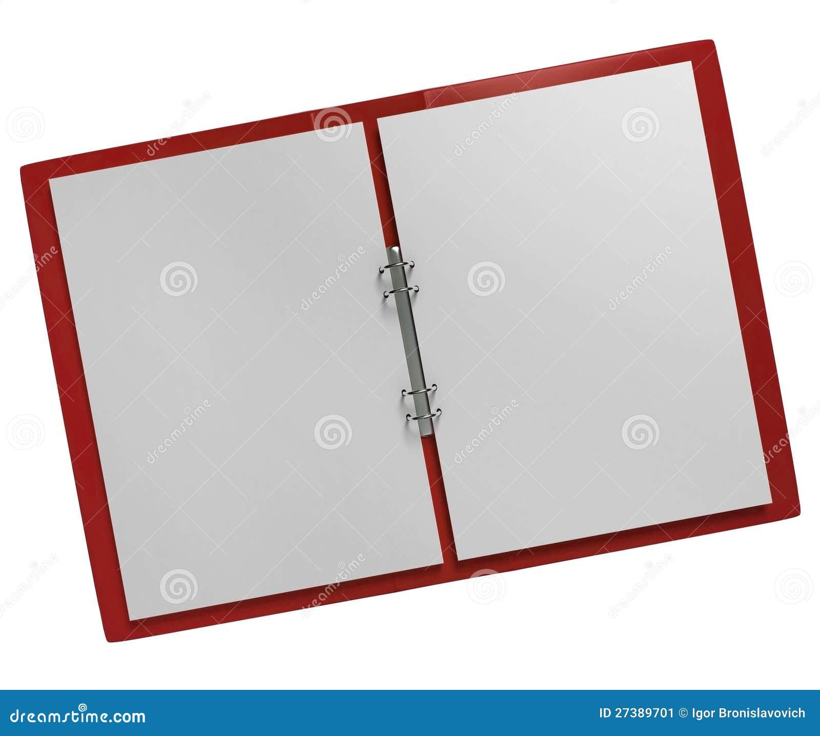 Opened Paper Folder Stock Image - Image: 27389701