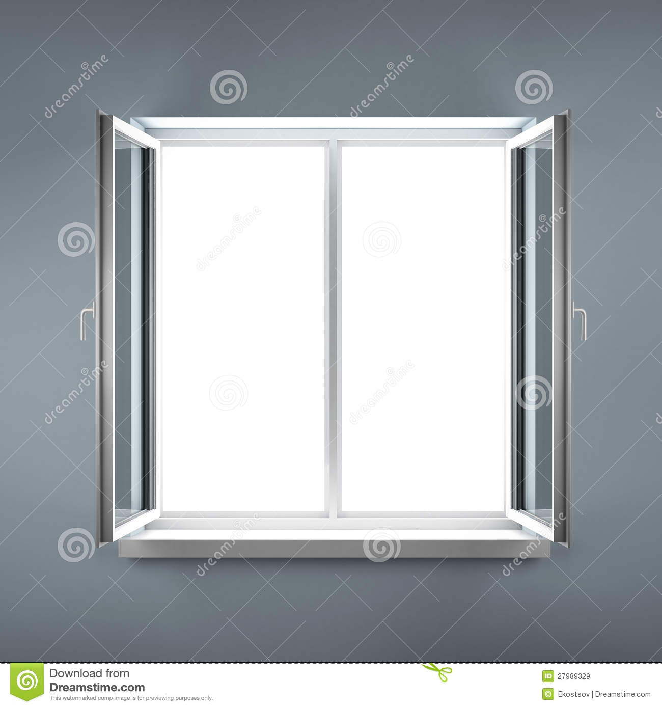 Plastic pvc window on white blank background royalty free for Window plastic