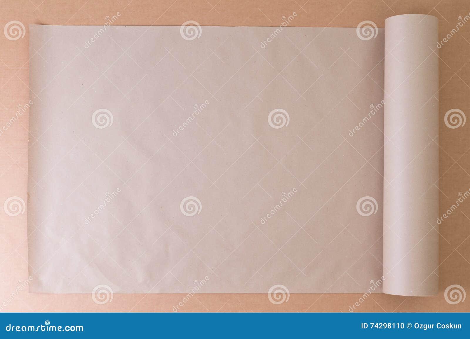 Opened roll of plain brown paper on cardboard stock photo image opened roll of plain brown paper on cardboard jeuxipadfo Choice Image
