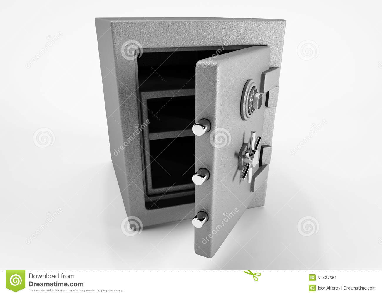 Opened Safe Stock Illustration - Image: 51437661