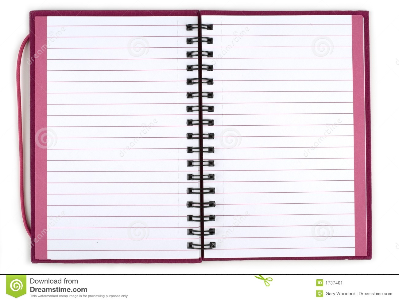 Opened Spiral Notebook. Stock Image - Image: 1737401