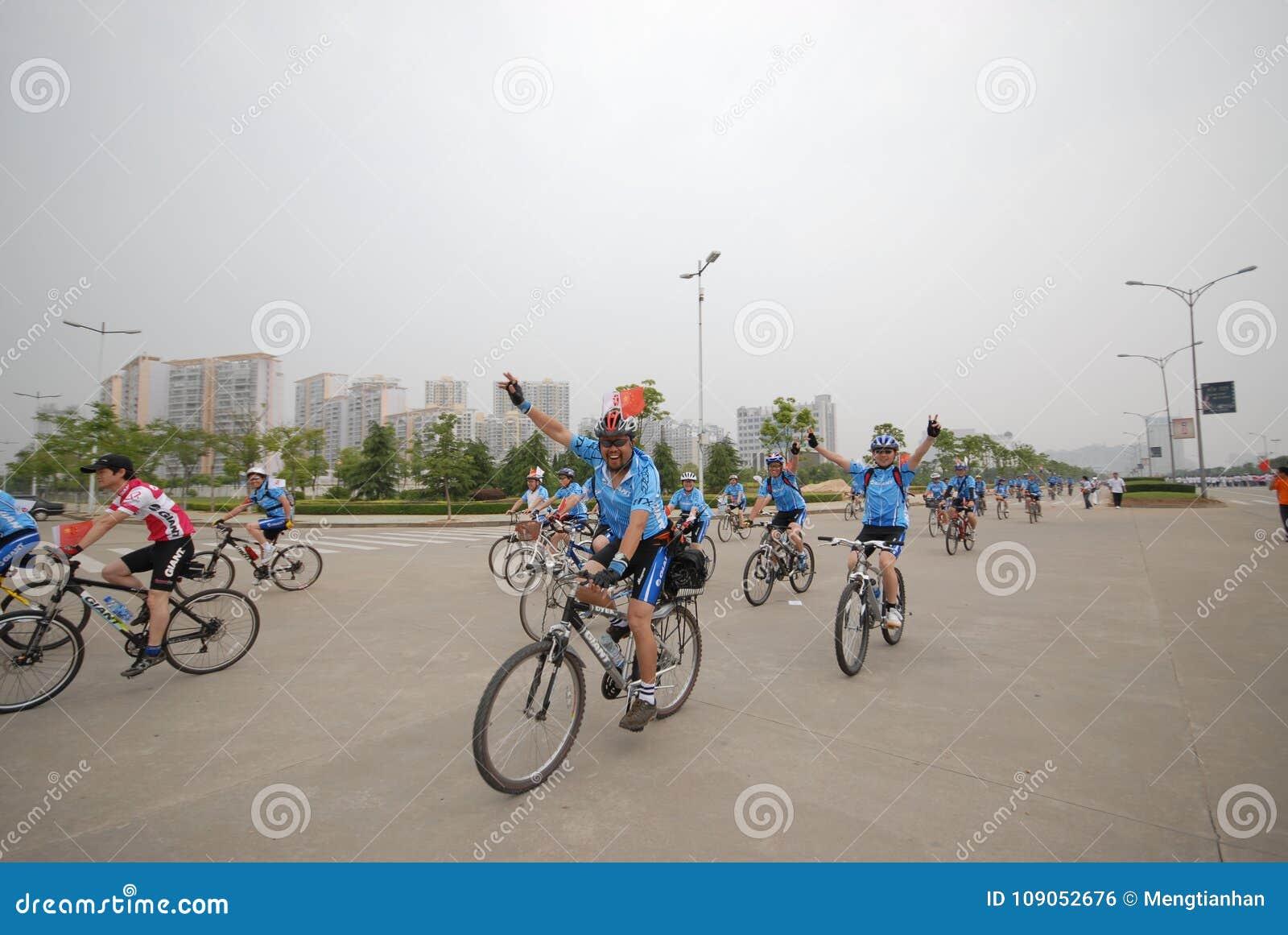 Bicycle Racing Driver-extensive Mass Fitness Programs