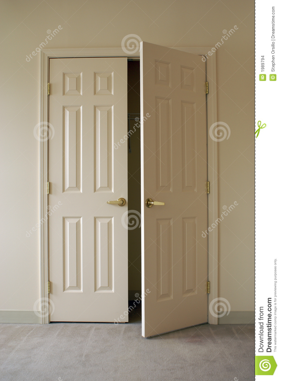 Opening Closet Doors Stock Images Image 1989794