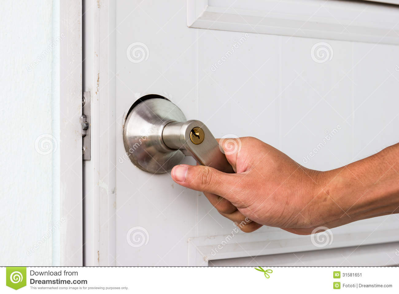 Royalty-Free Stock Photo & Opening Door Knob Stock Image - Image: 31581651 Pezcame.Com
