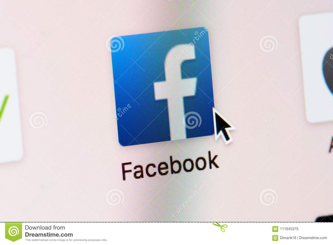 Opening Facebook web page