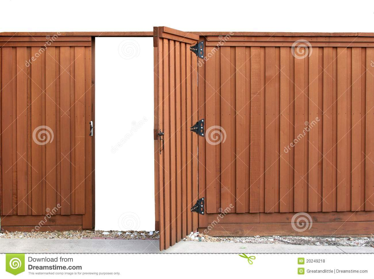 Opening Gate In A Wooden Fence Stock Photo - Image of boarded, posts