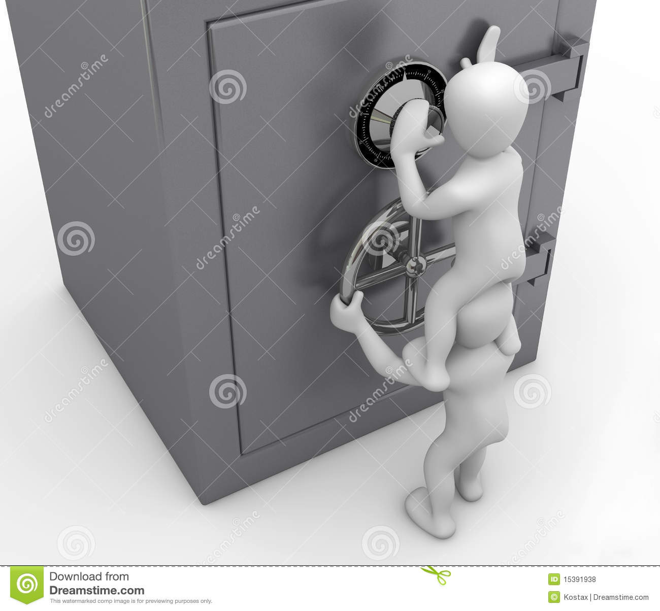 Opening The Safe Royalty Free Stock Photos - Image: 15391938
