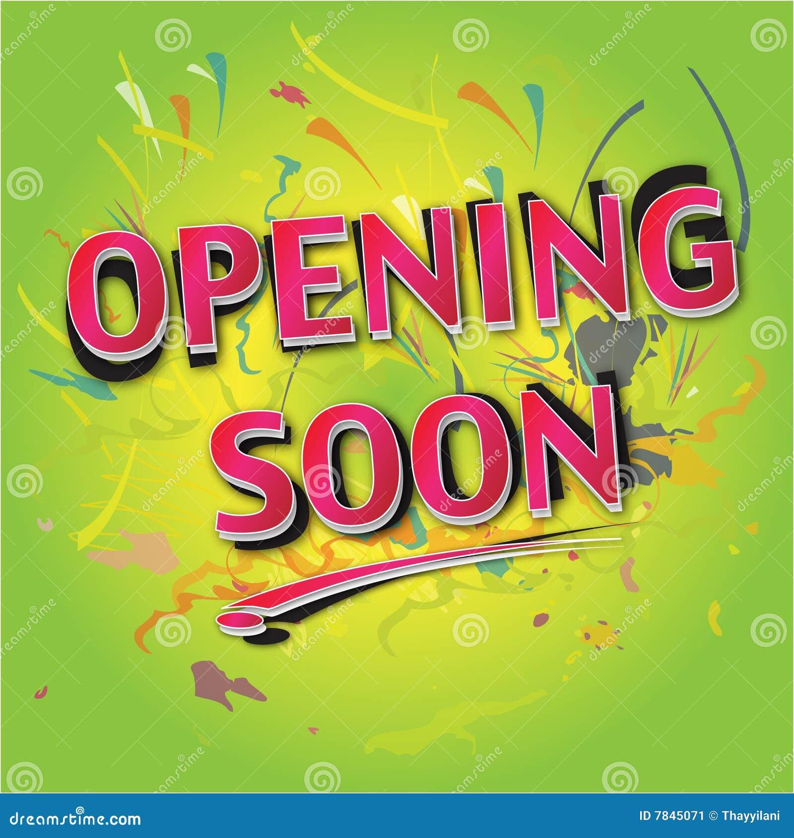 Opening Soon Stock Image Image 7845071