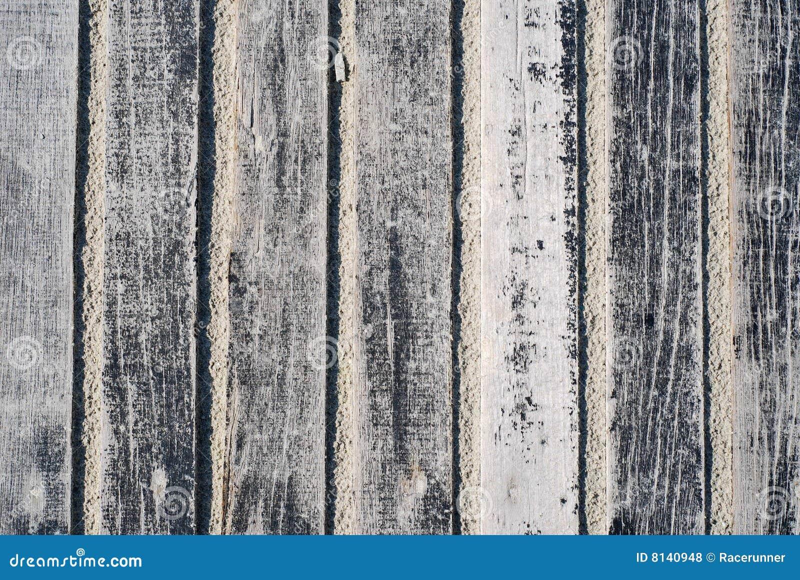 Openlucht geschilderde houten vloer stock foto afbeelding