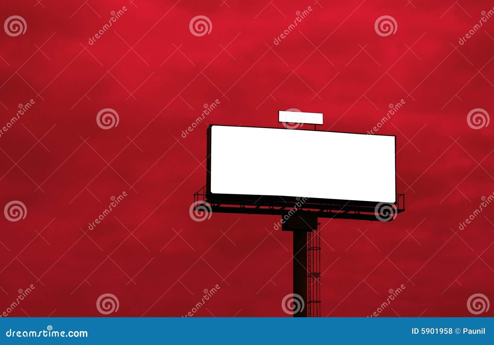 Openlucht reclameaanplakbord