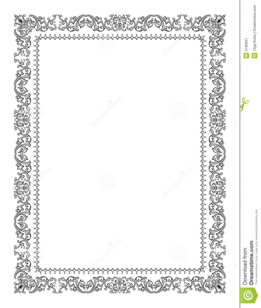vintage ornate frames vector source