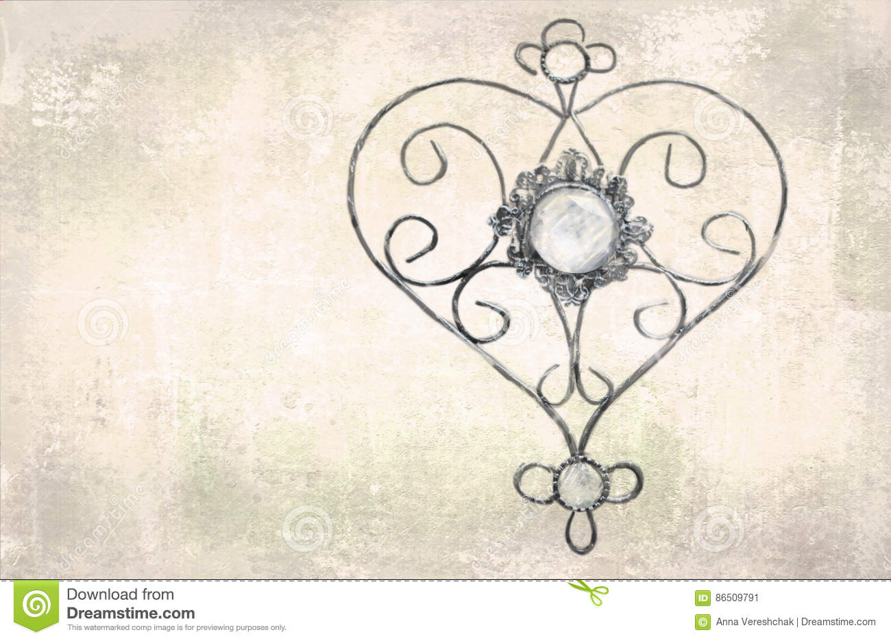 openwork heart pendant template for greeting cards envelopes