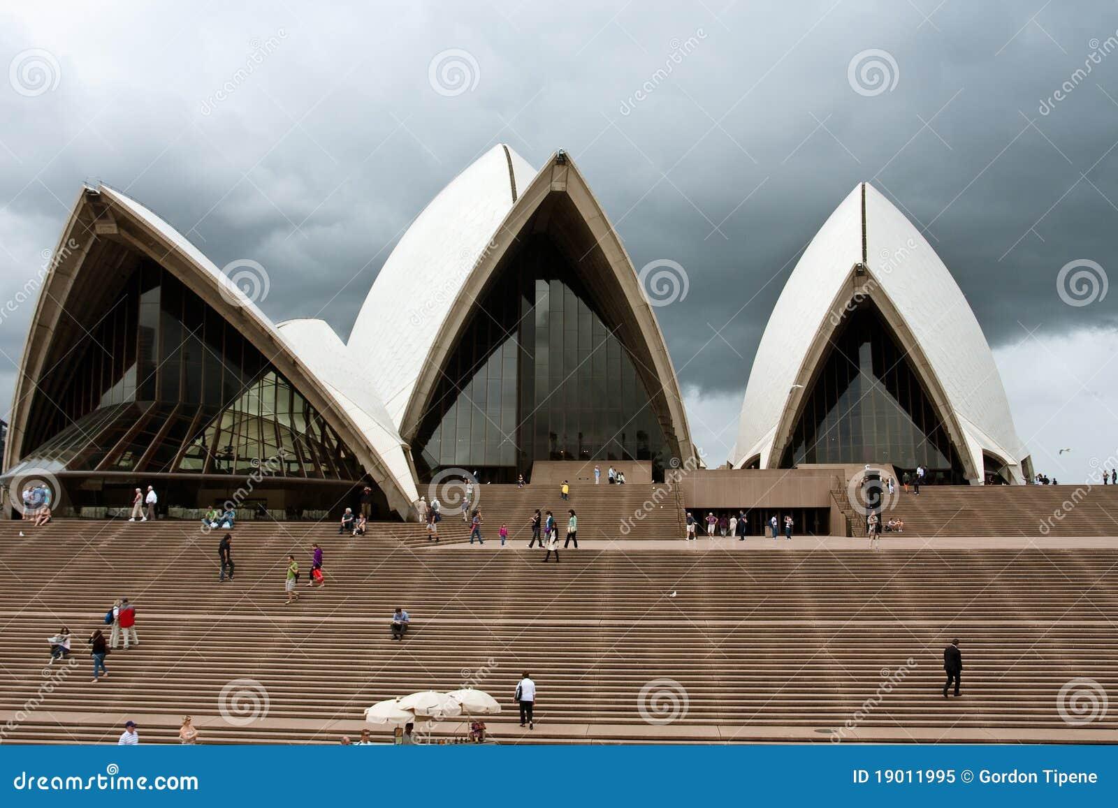 Oper chmurni domowi nieba Sydney
