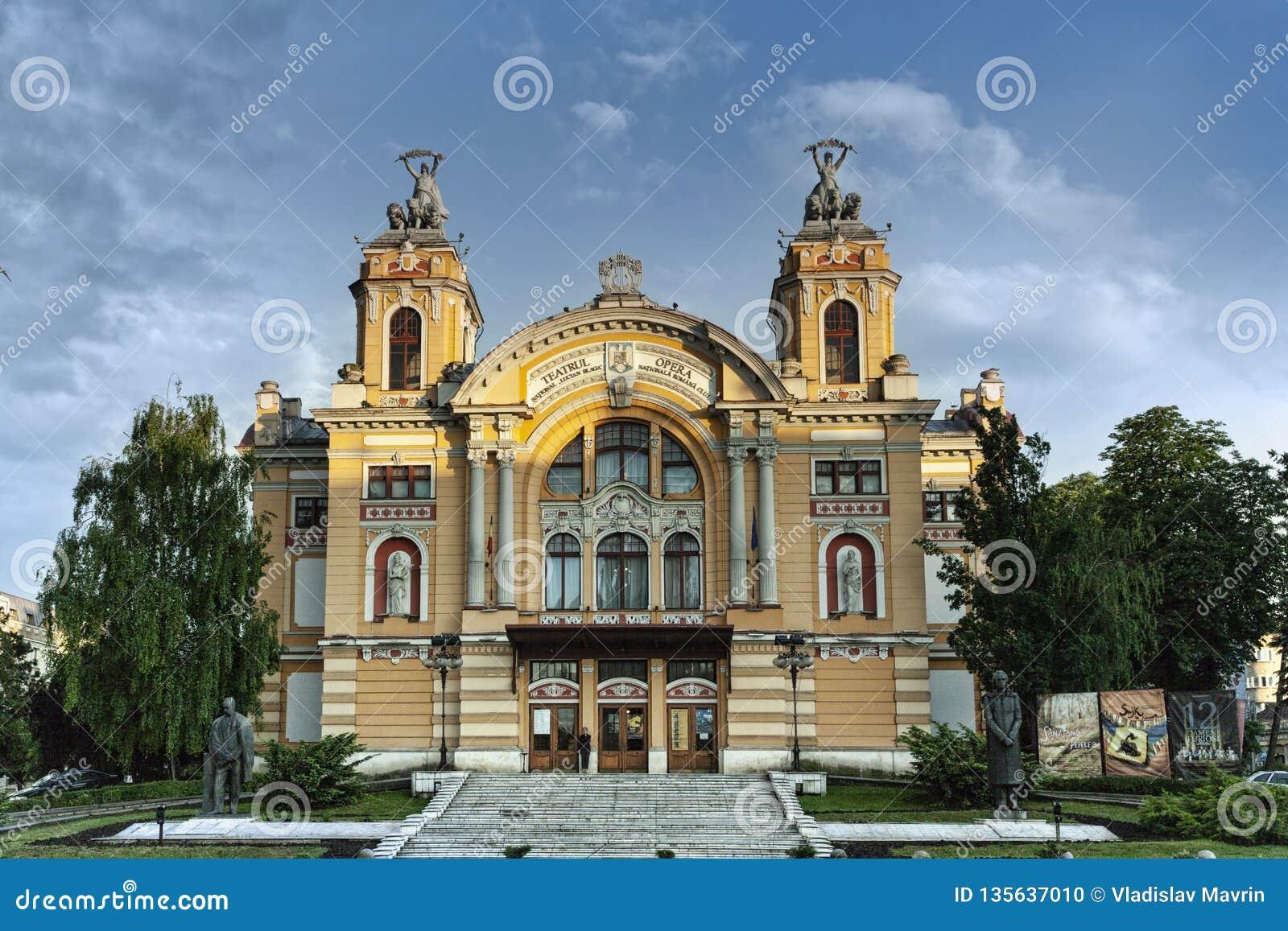 Oper Klausenburgs Napoca, Rumänien, im Mai 2018