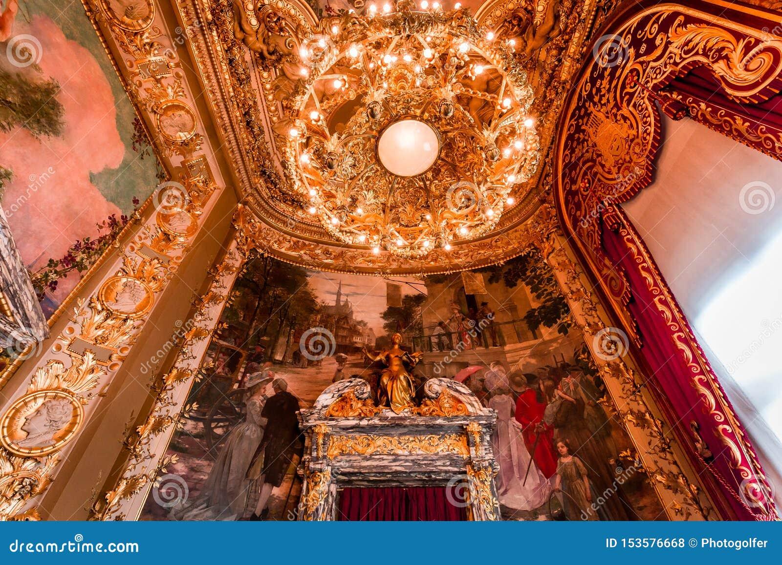 Opera Comique Of Paris  Interiors And Details Editorial