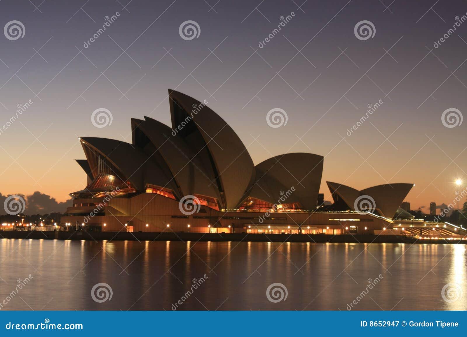 Opera domowy wschód słońca Sydney
