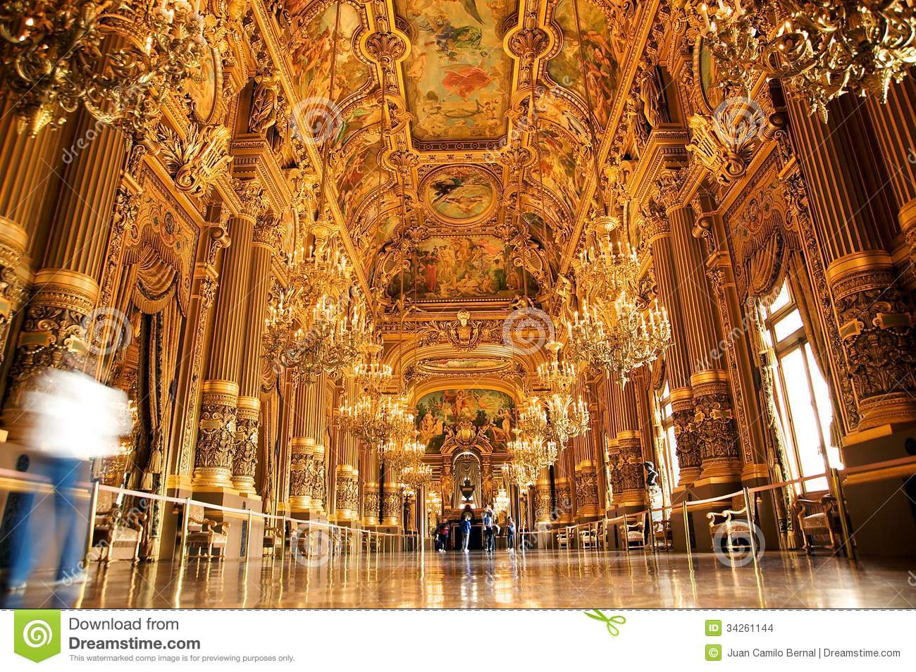 The Grand Foyer Palais Garnier : Opera garnier stock images image