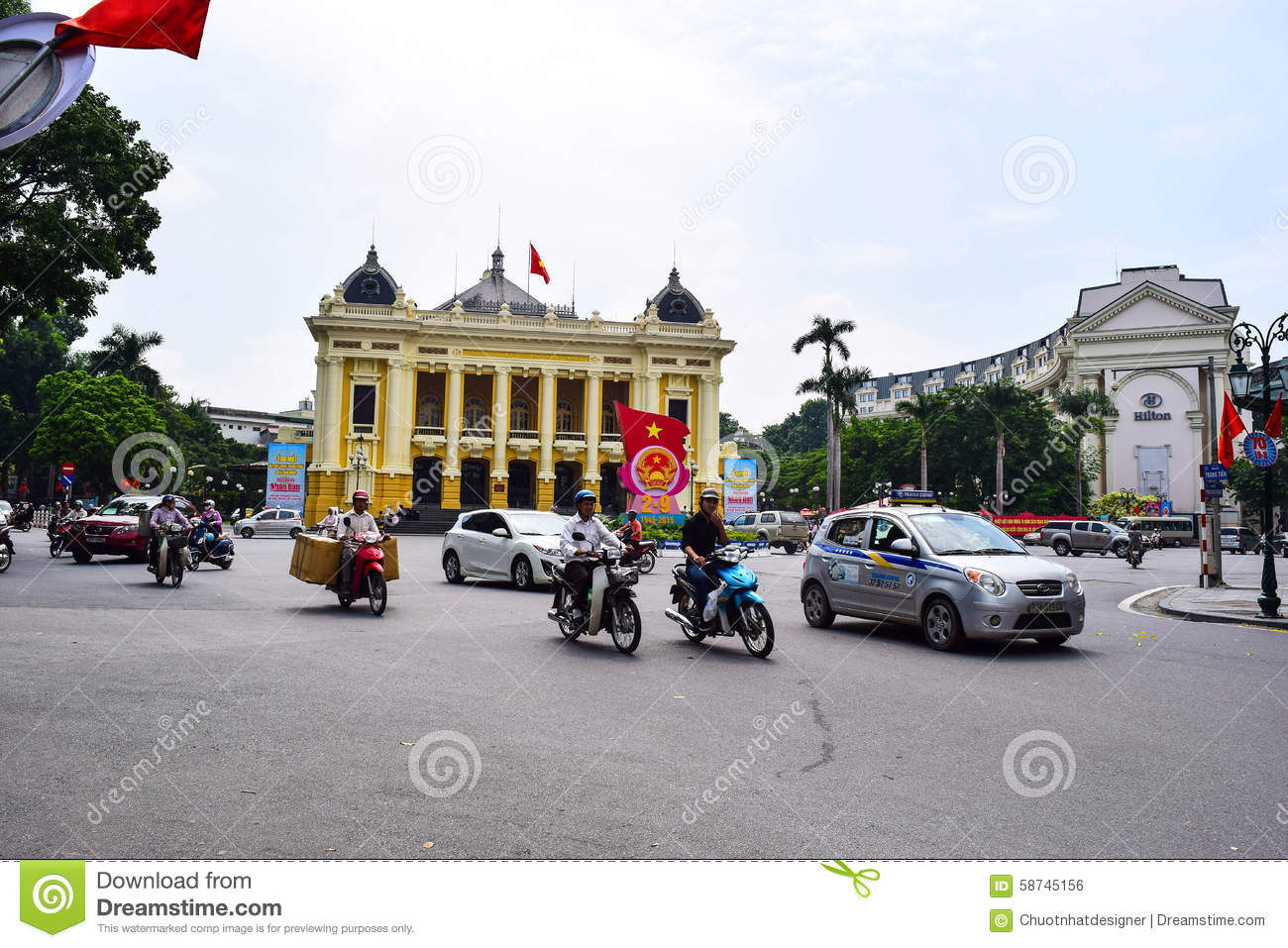 Opera House of Hanoi. Ha Noi is the capital and the second largest city in Vietnam