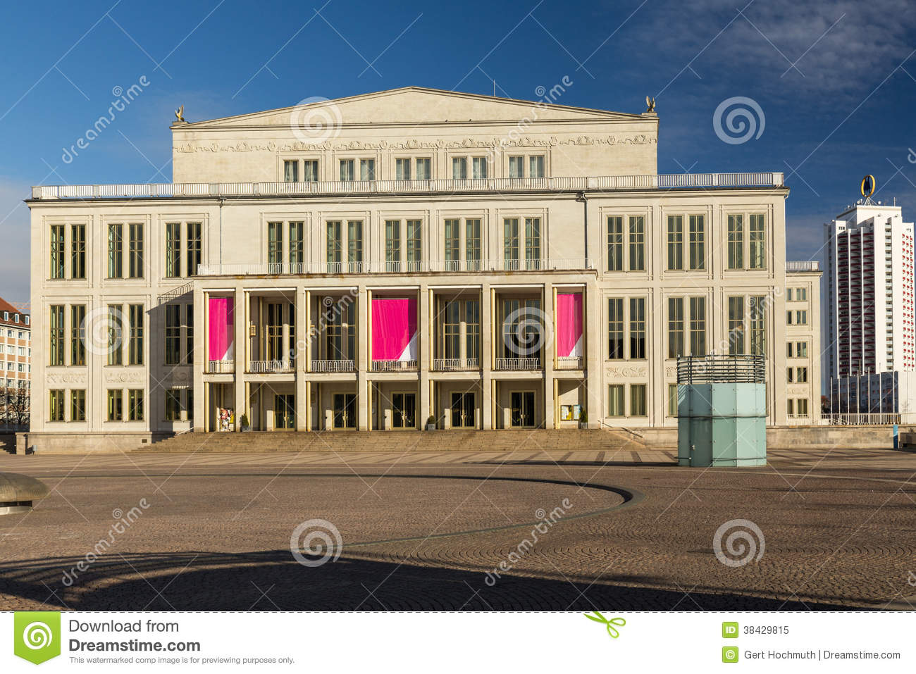 Opera House Leipzig Stock Image Image Of Clouds Ancient 38429815