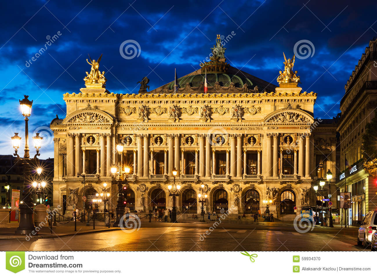 Interior Of Opera Garnier In Paris Royalty Free Stock Photography ...