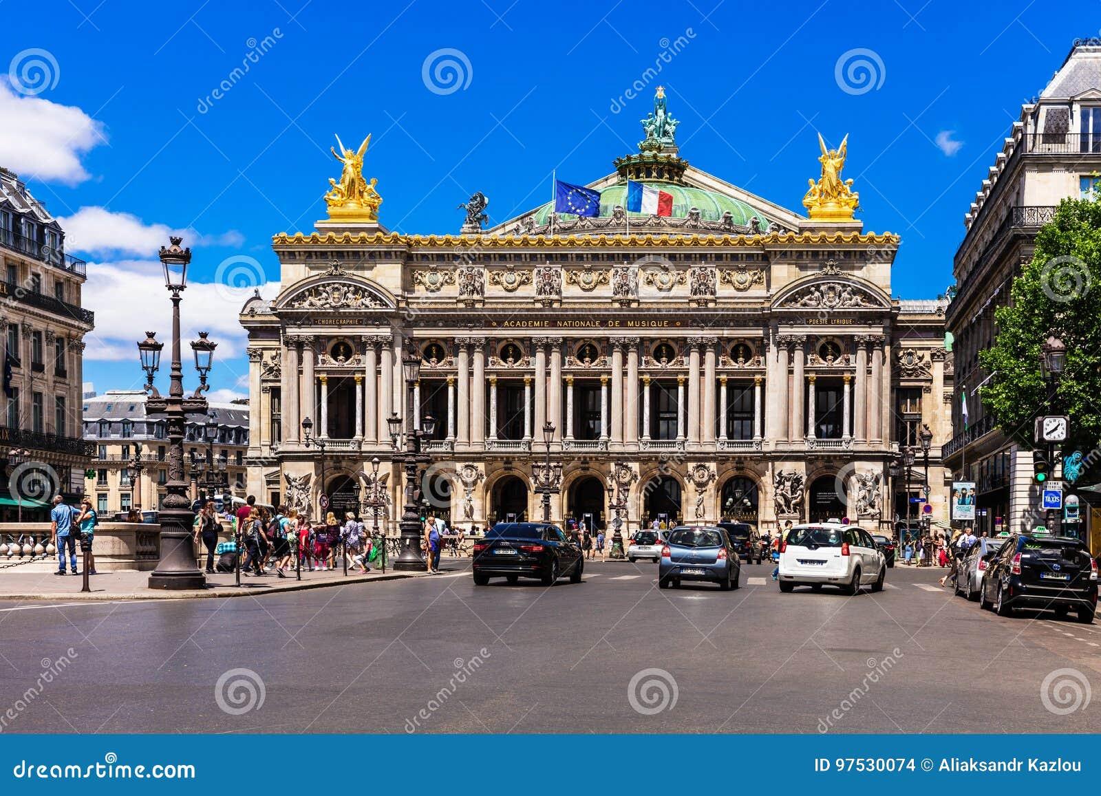 Opera obywatel de Paryż - Uroczystej opery opera Garnier Paryż, Fr