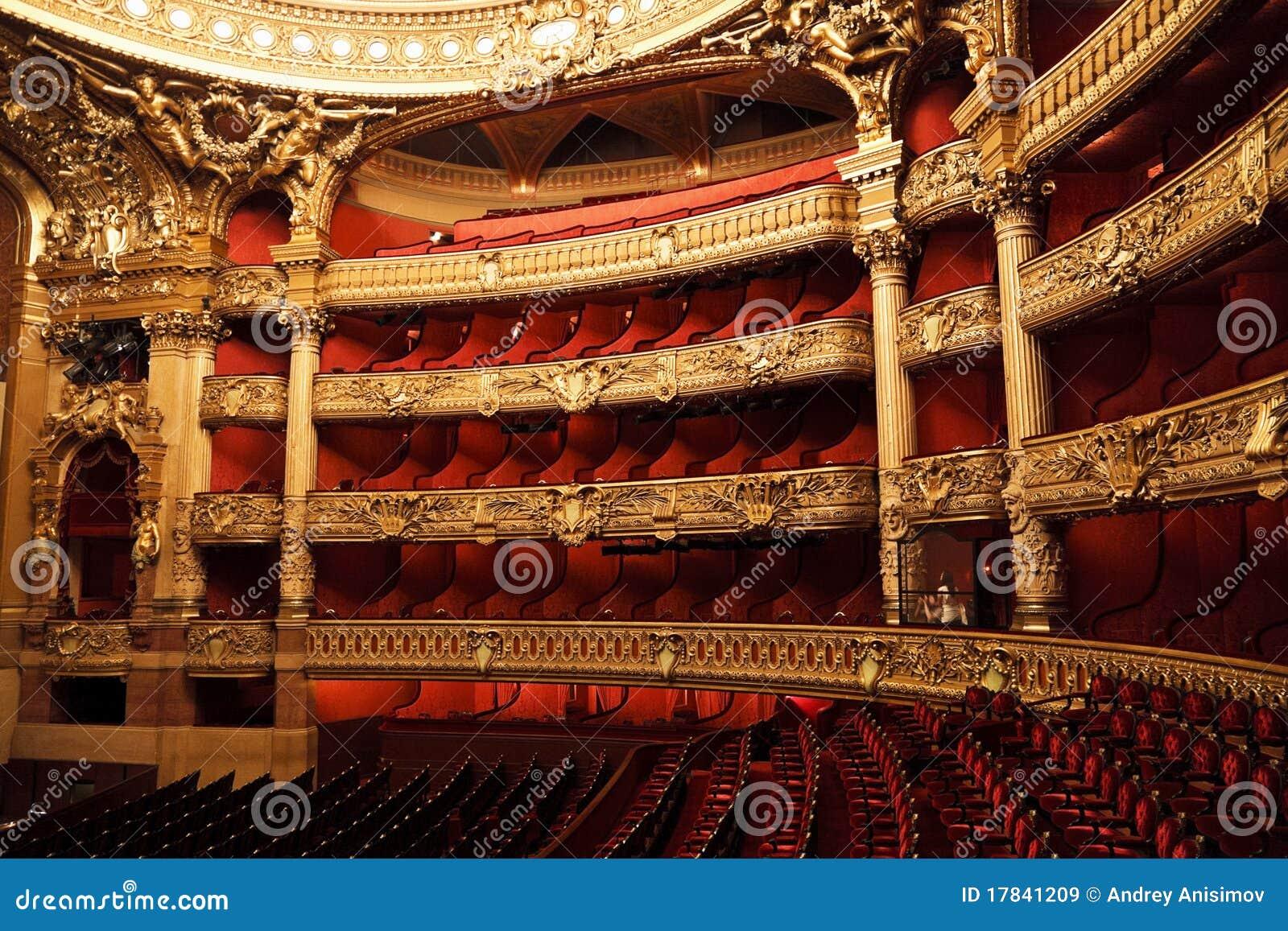 The Opera Or Palace Garnier Paris France Stock Image