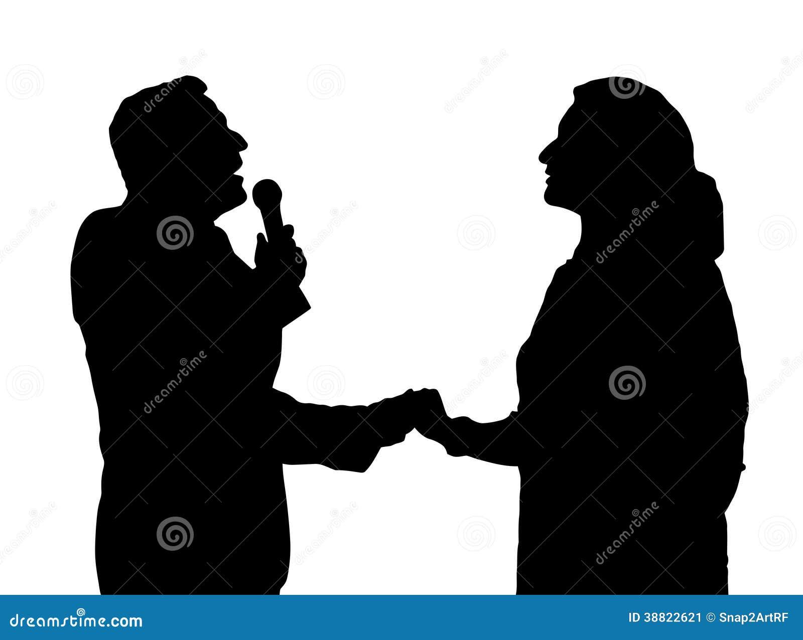 Opera Singers Silhouette Stock Vector - Image: 38822621