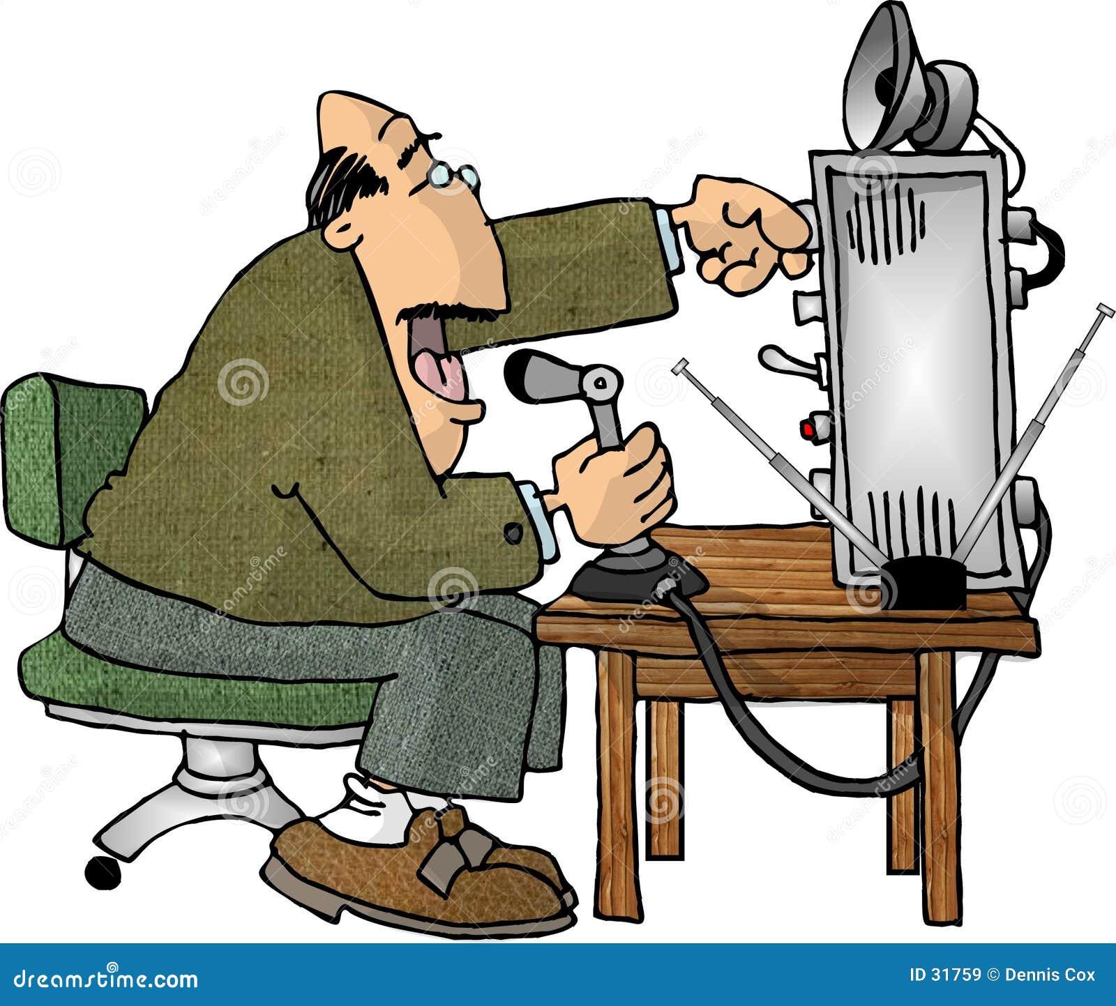Operador de rádio de presunto