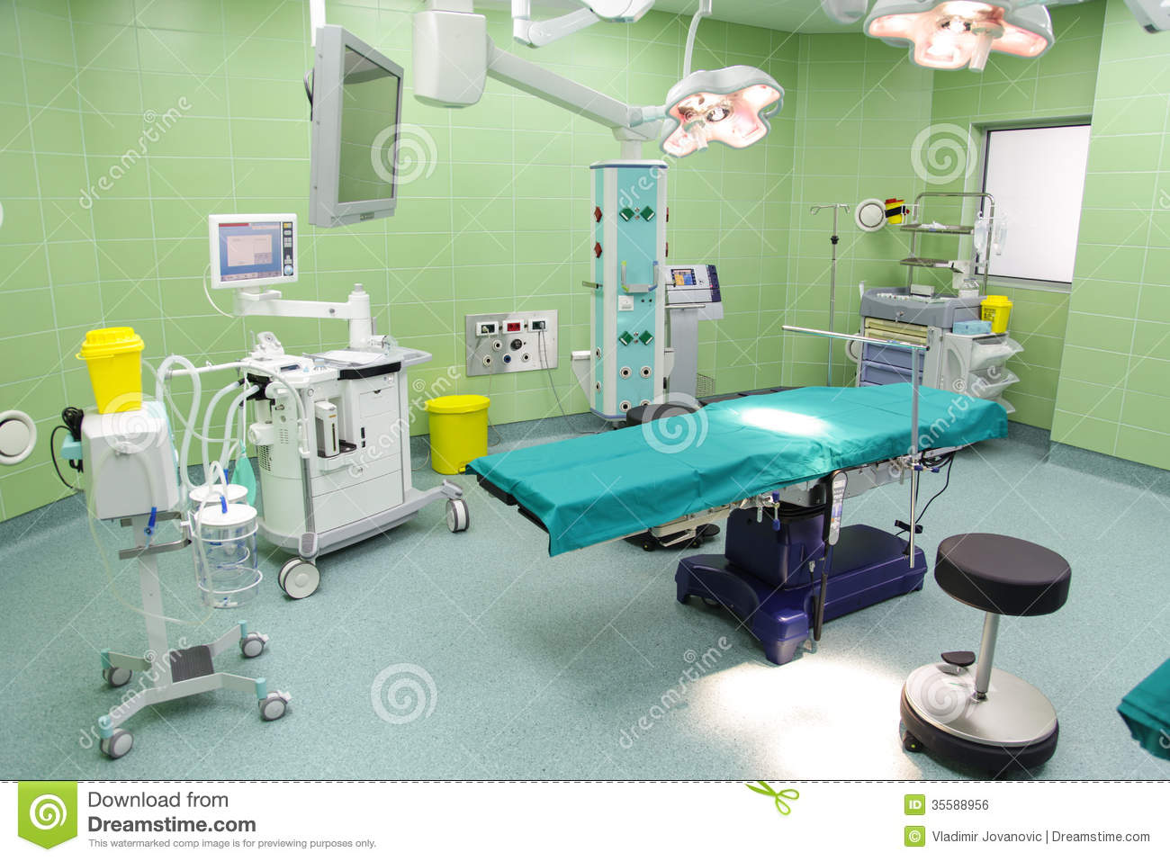 Hospital operating room - Emergency Empty Hospital Modern Operating Room