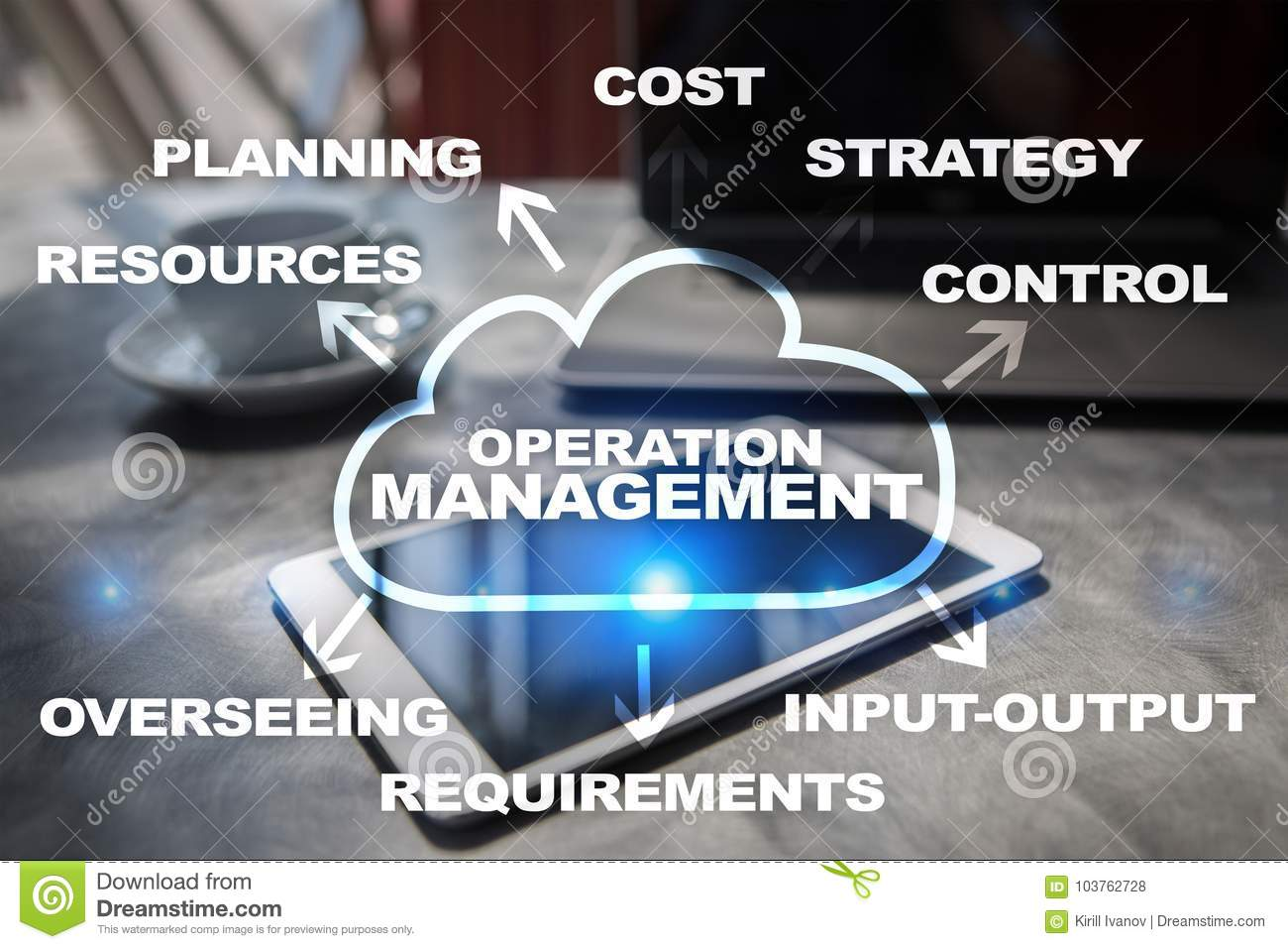 Time Management And Technology: Operation Management Business And Technology Concept On