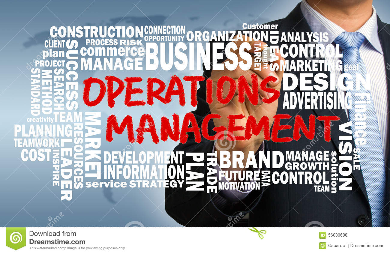 Operations Management Concept With Related Word Cloud Stock Photo ...