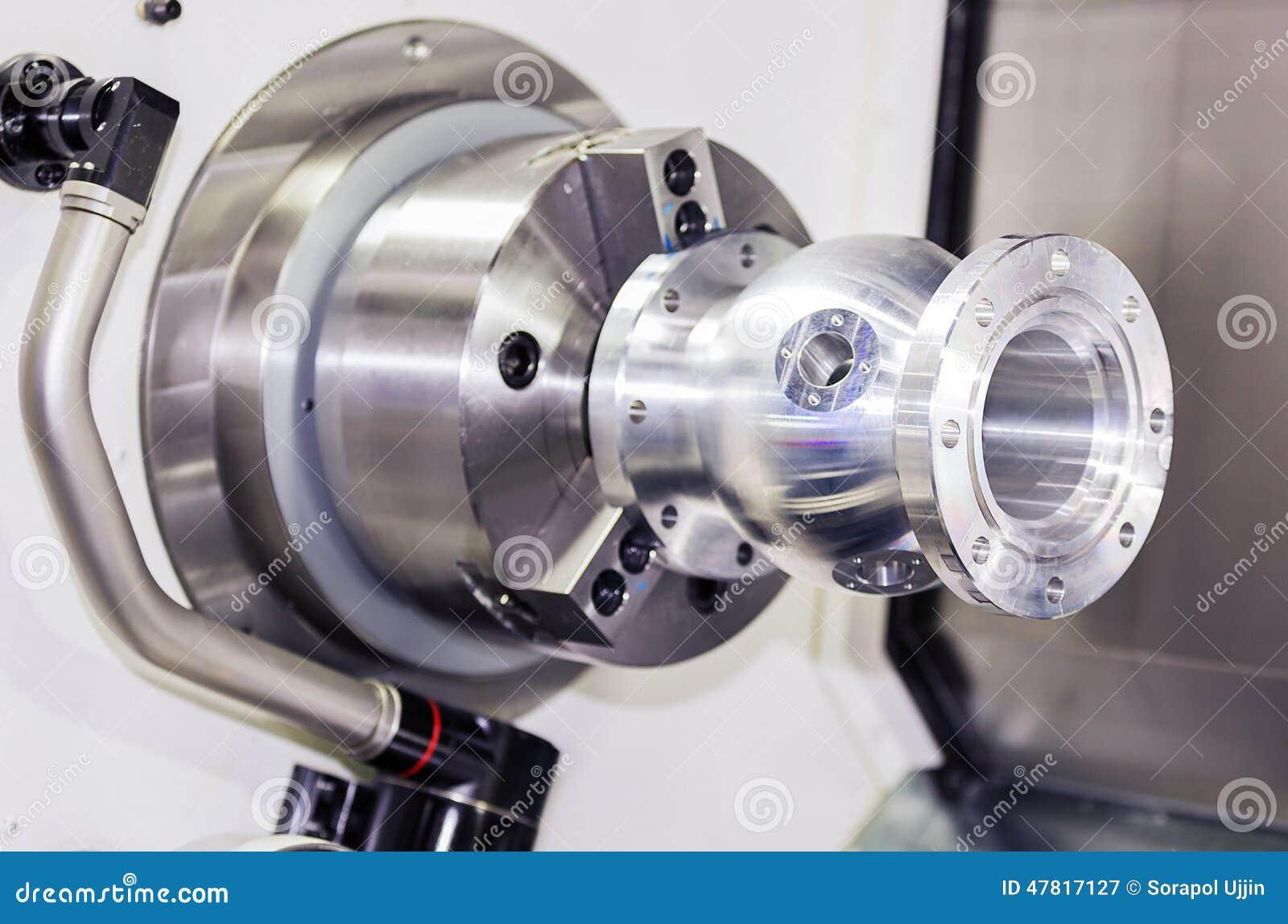 ... Turning Aluminium Autopart By Cnc Lathe Stock Photo - Image: 47817127
