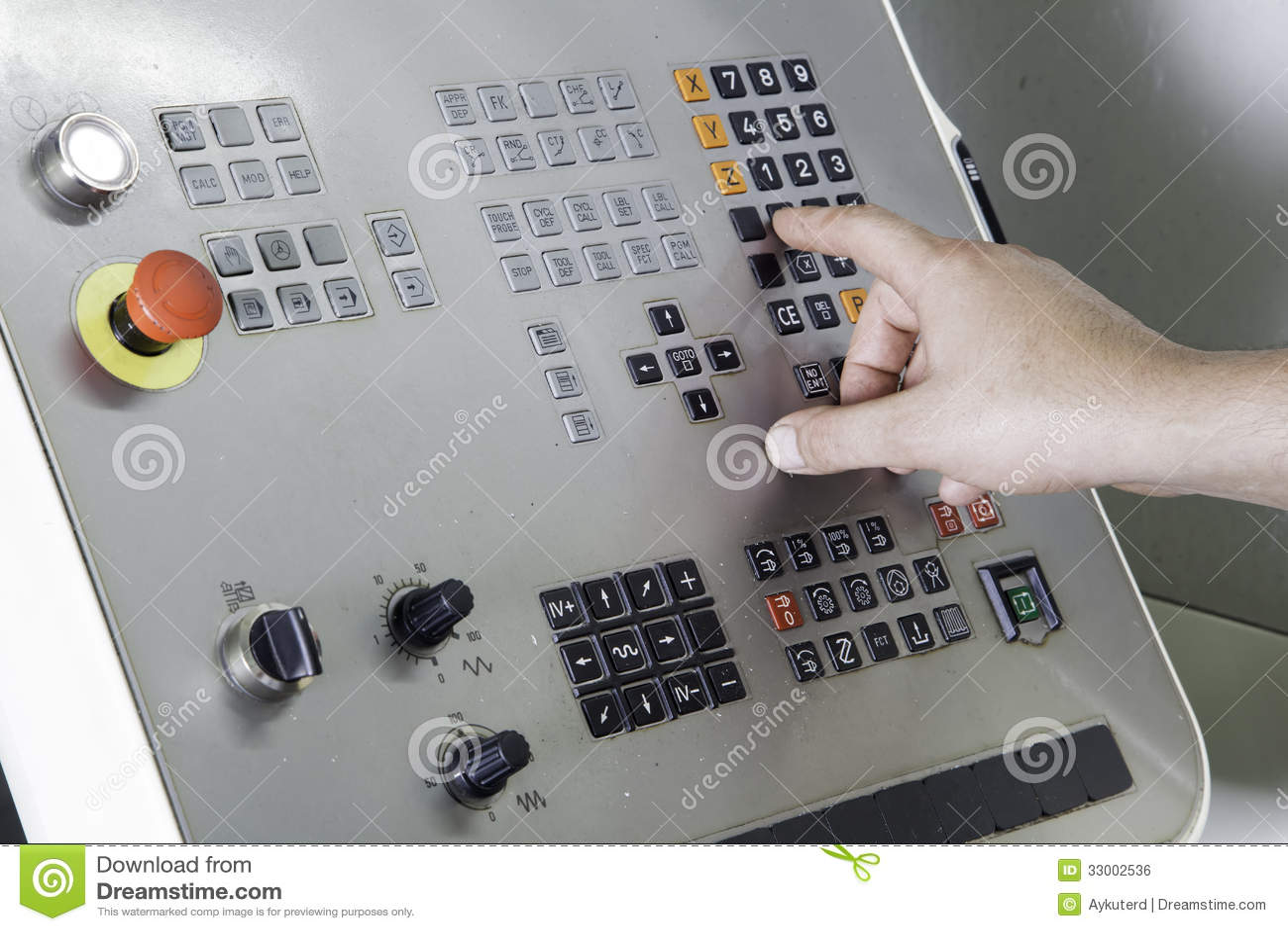 Operatore che lavora la macchina di CNC