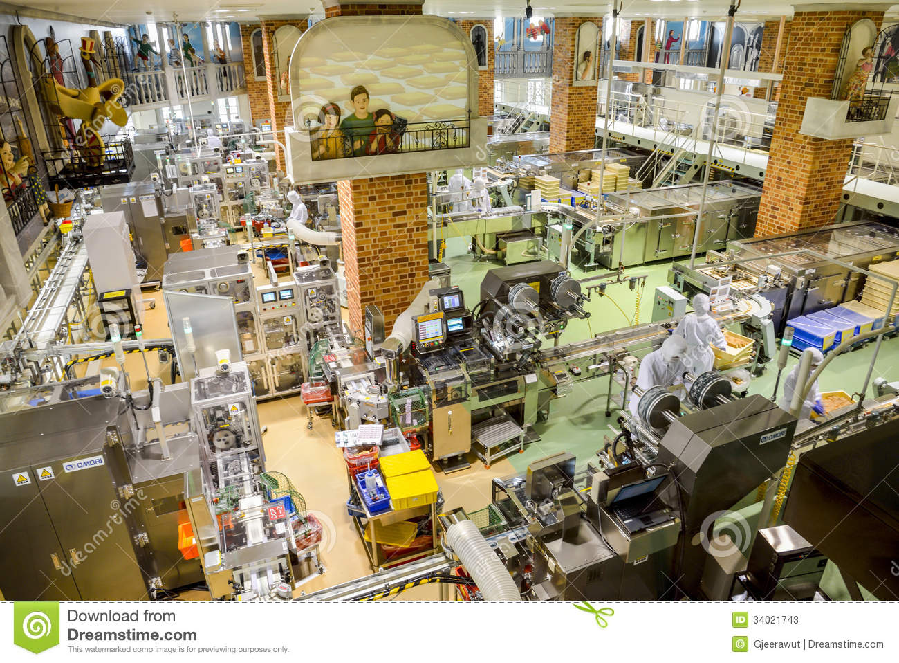 Operators Work In Chocolate Factory Editorial Stock Photo ...
