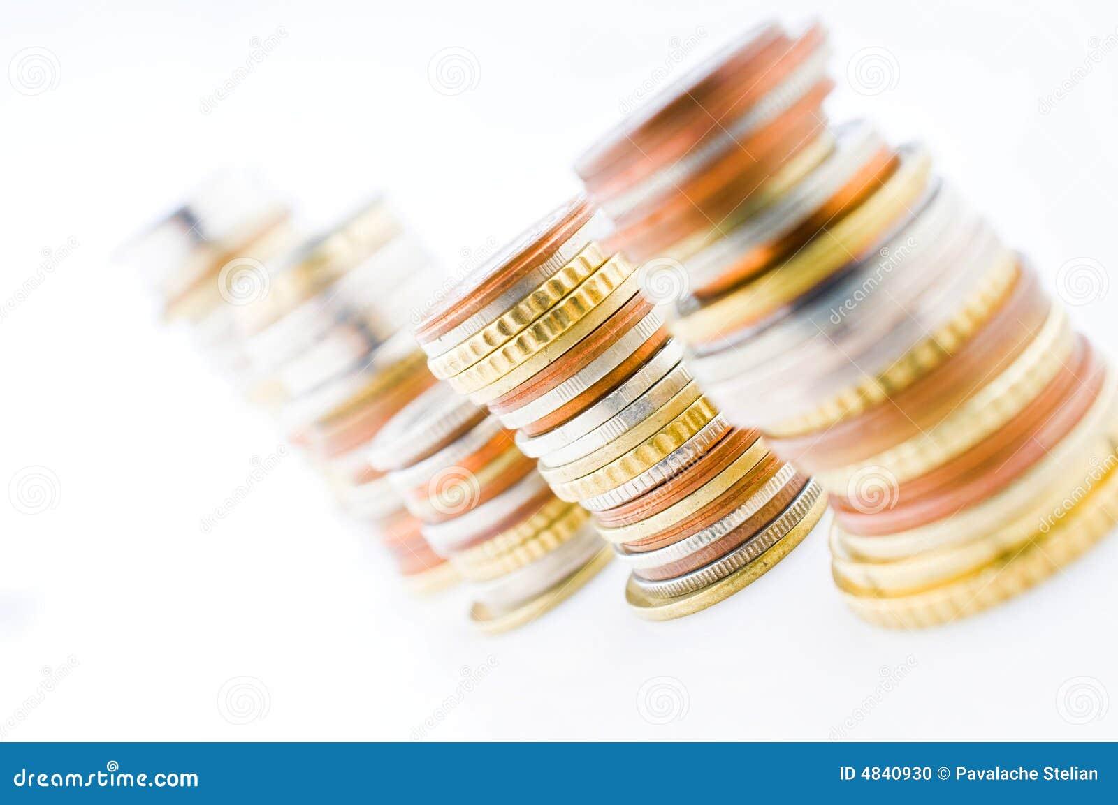 Opgestapelde muntstukken