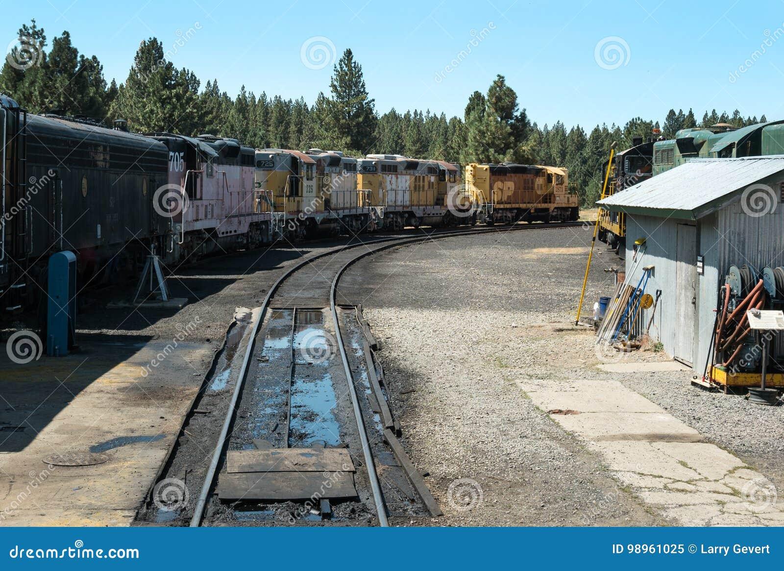 Opgestelde locomotieven