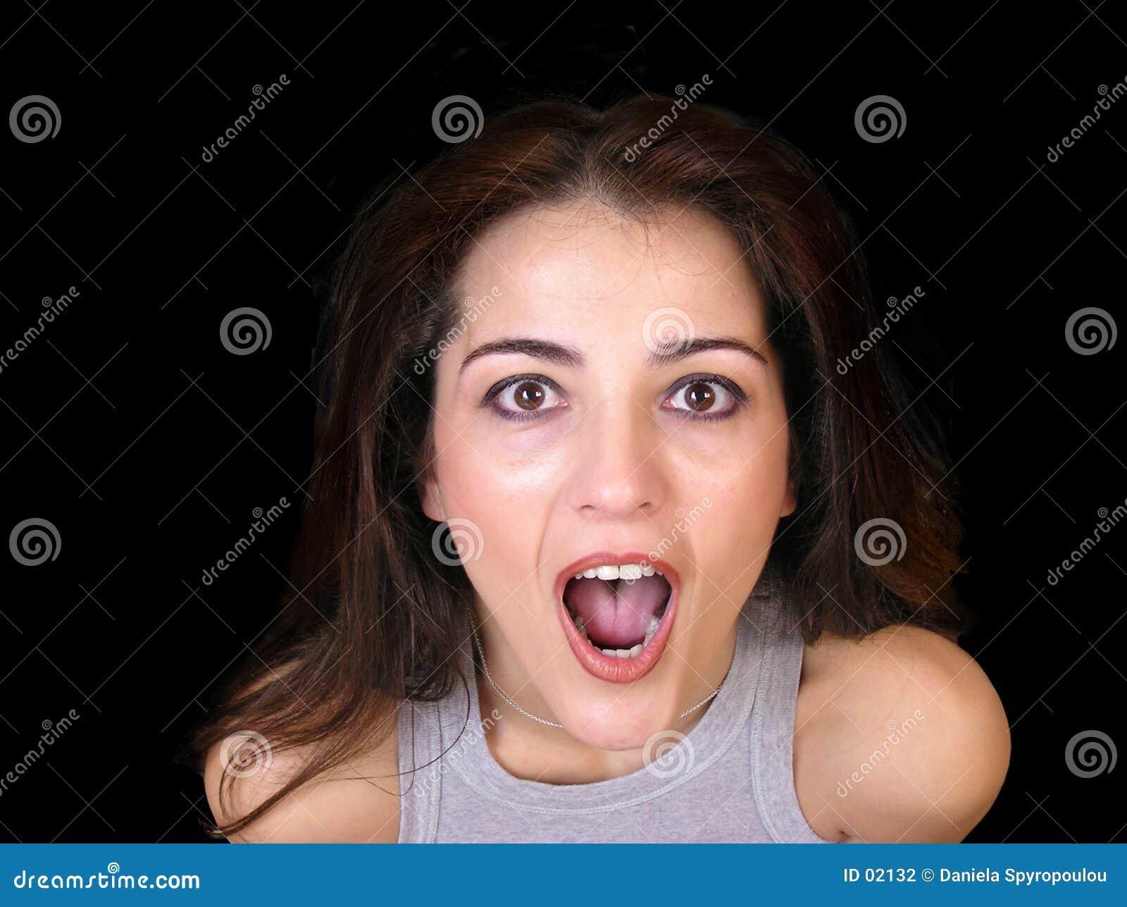 Download Opgewekte vrouw stock foto. Afbeelding bestaande uit hartstochtelijk - 2132