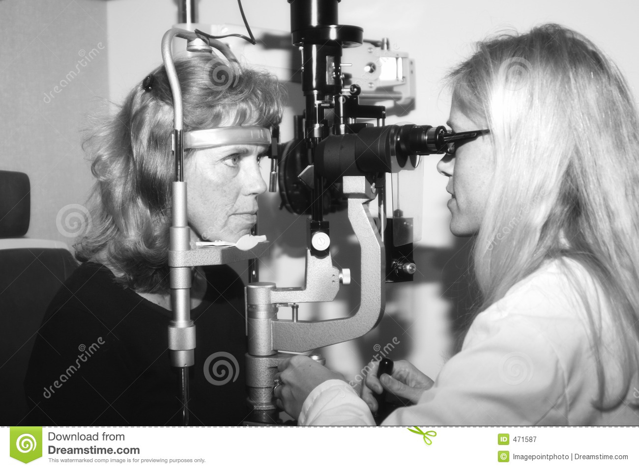 Download Ophthalmologist Conducting An Eye Examination Stock Image - Image of health, optometrist: 471587