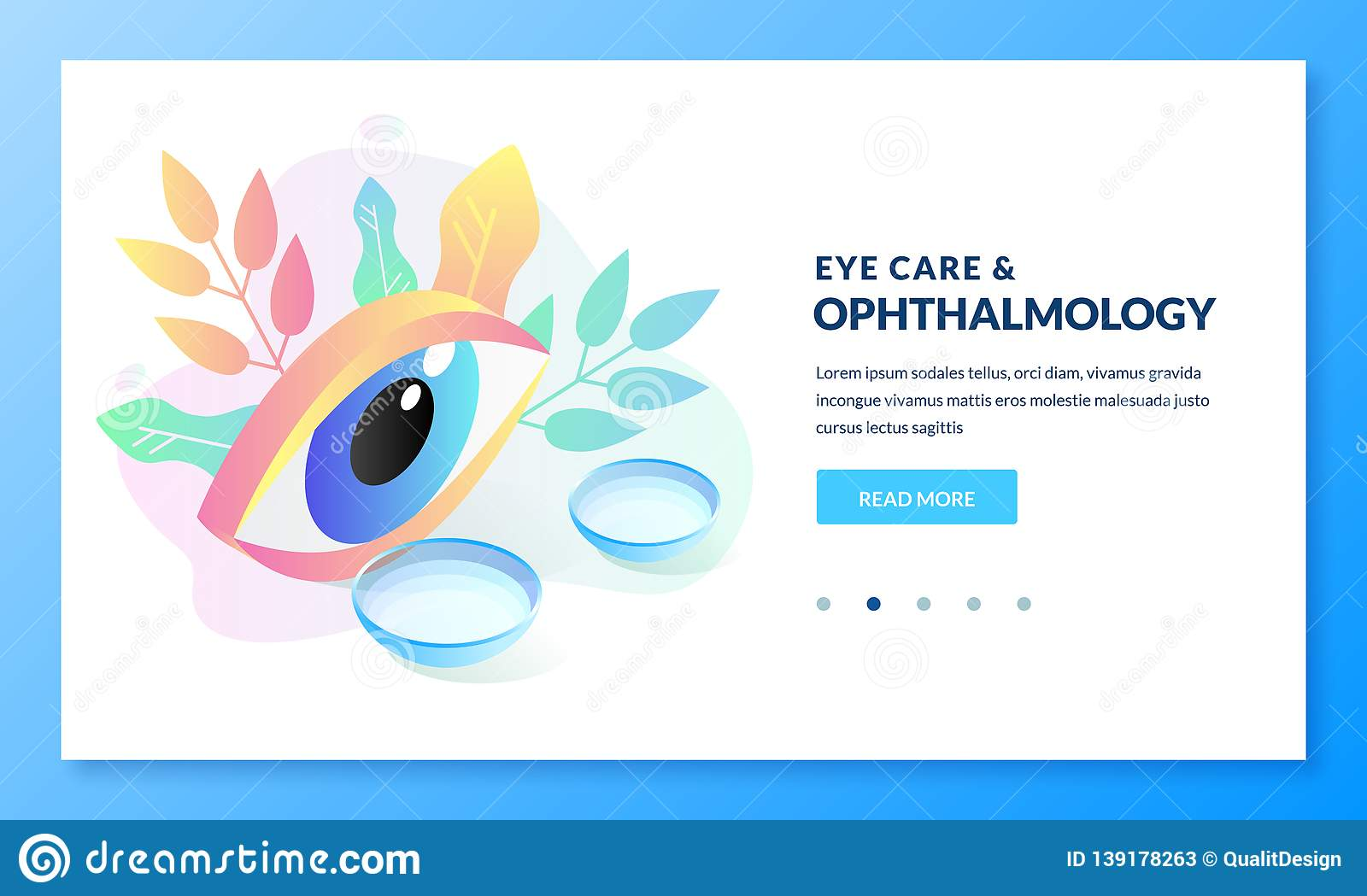 Ophthalmology Eye Care Concept  Vector Isometric Illustration Of