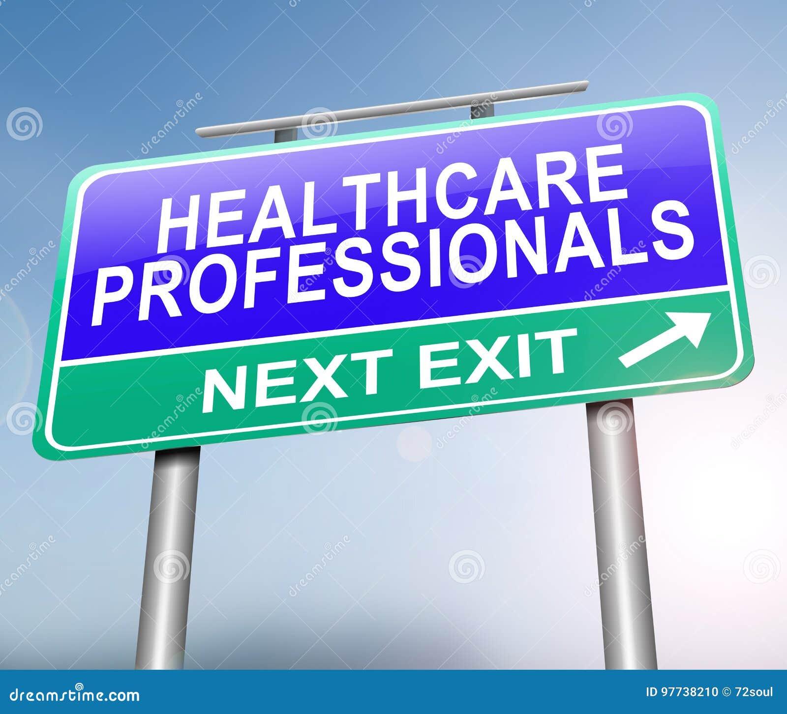 Opieka zdrowotna profesjonalistów pojęcie