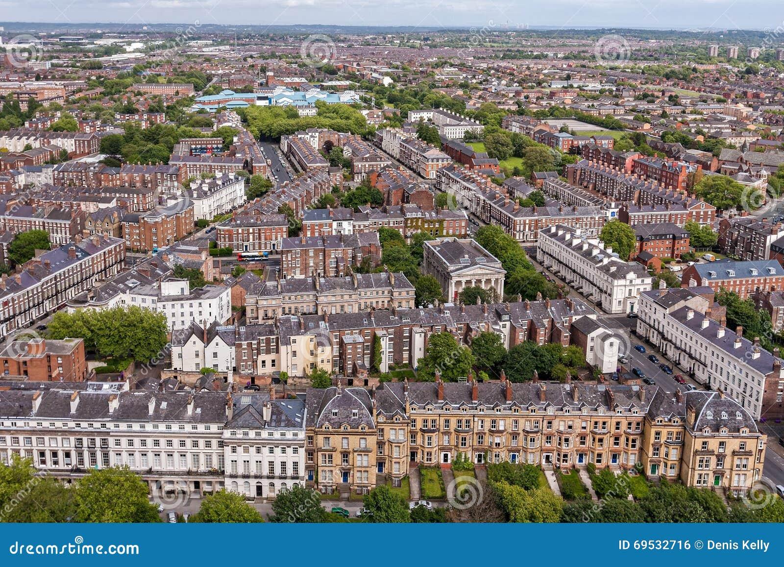 Opiniao Aerea De Centro De Cidade De Liverpool Foto Editorial Imagem De Liverpool Opiniao 69532716
